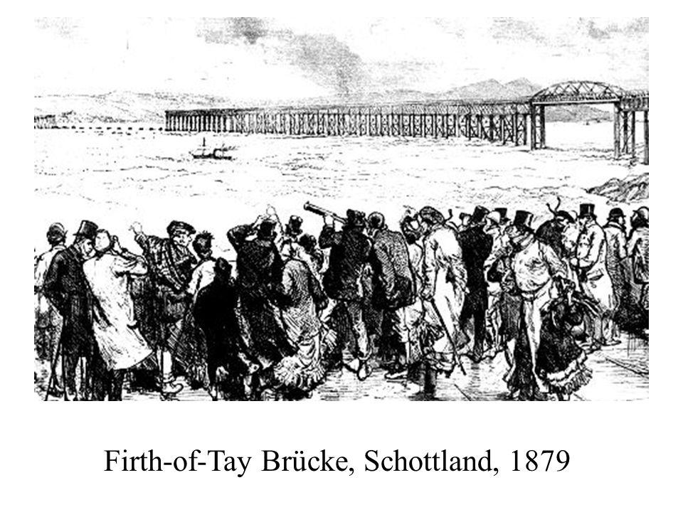 Firth-of-Tay Brücke, Schottland, 1879
