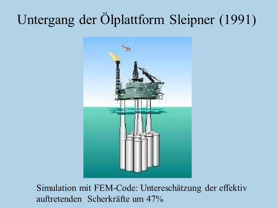 Untergang der Ölplattform Sleipner (1991)
