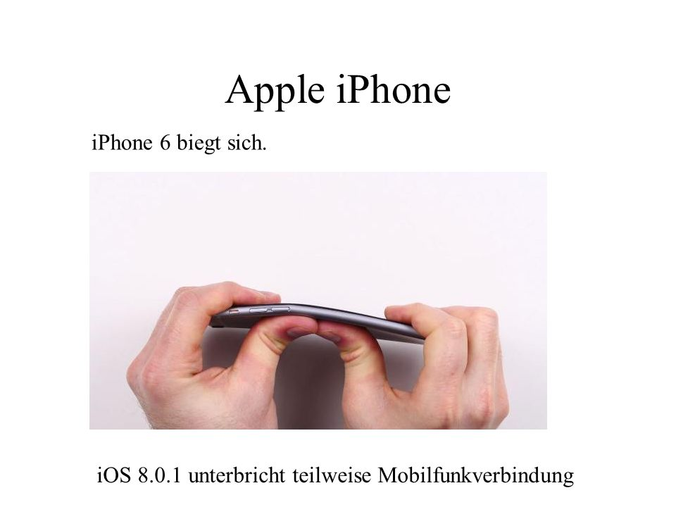 Apple iPhone iPhone 6 biegt sich.
