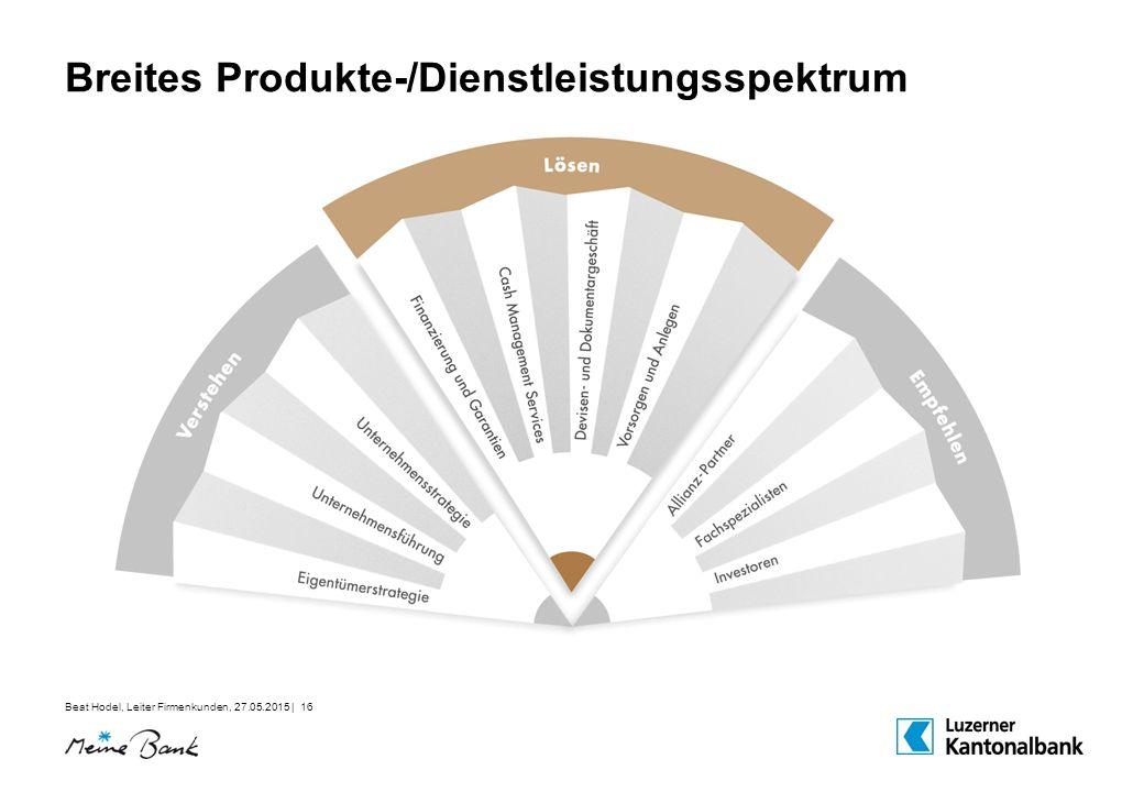 Breites Produkte-/Dienstleistungsspektrum