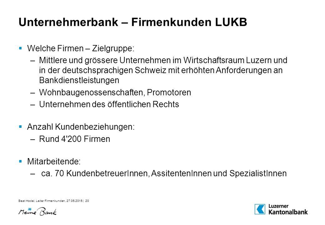 Unternehmerbank – Firmenkunden LUKB