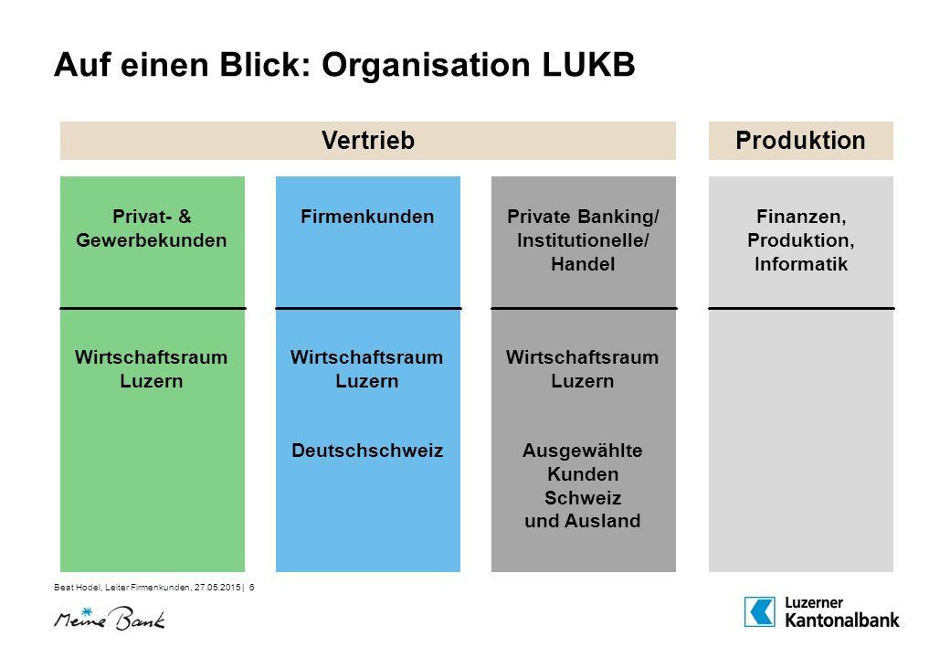 Auf einen Blick: Organisation LUKB