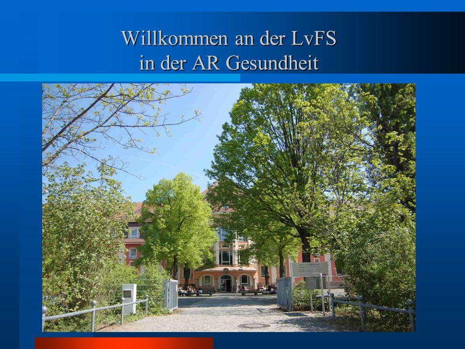 Willkommen an der LvFS in der AR Gesundheit