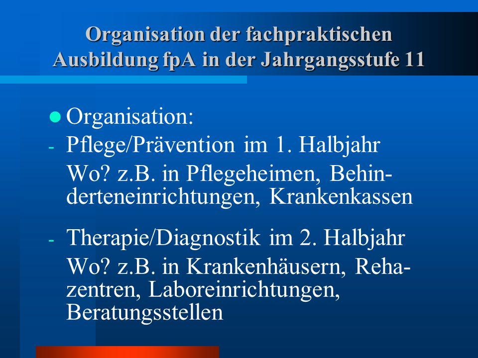Pflege/Prävention im 1. Halbjahr