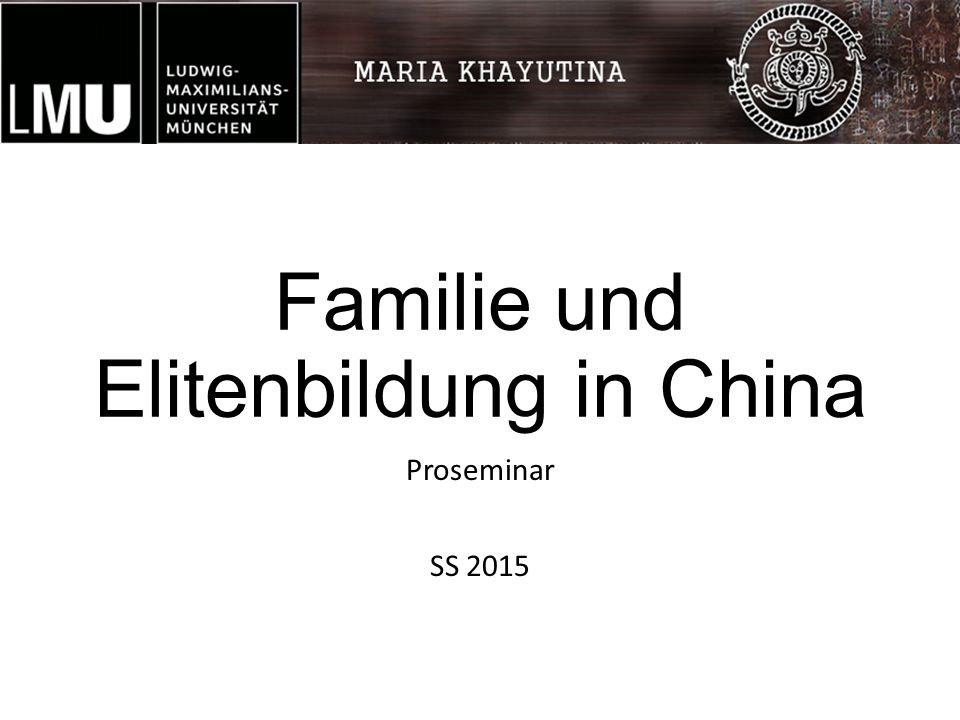 Familie und Elitenbildung in China