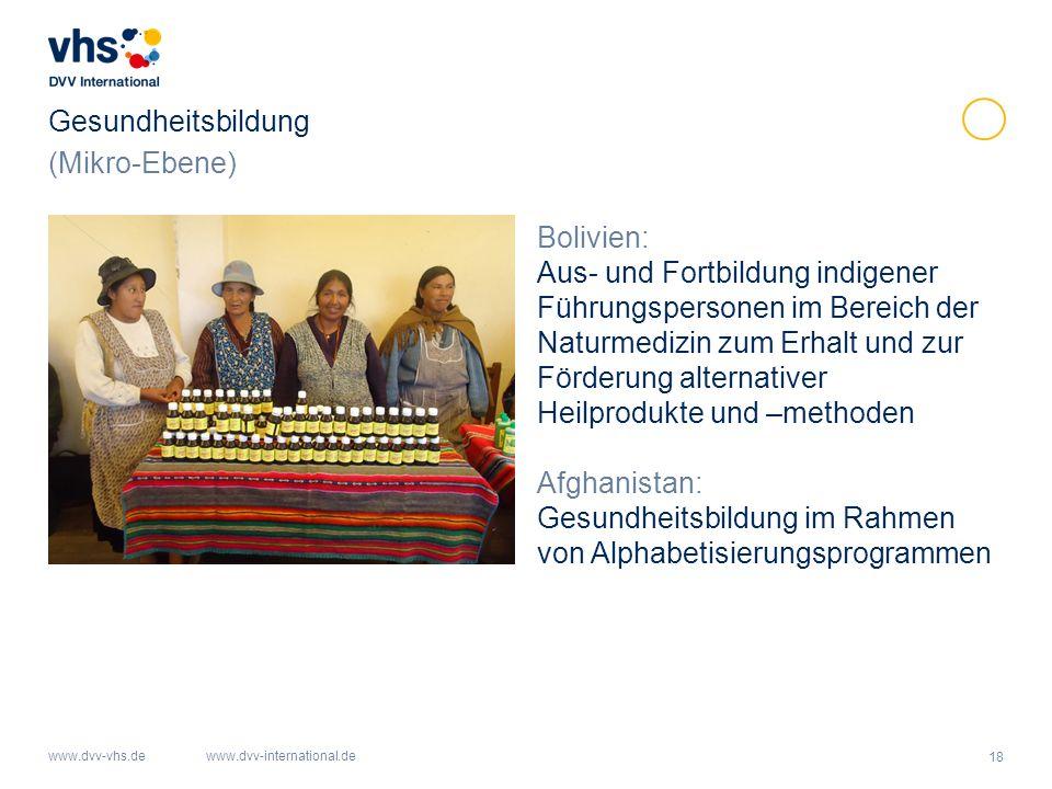 Gesundheitsbildung (Mikro-Ebene) Bolivien:
