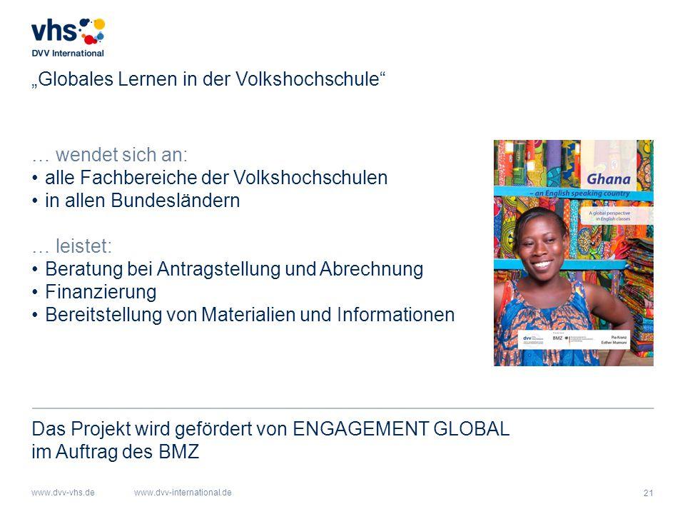 """Globales Lernen in der Volkshochschule"