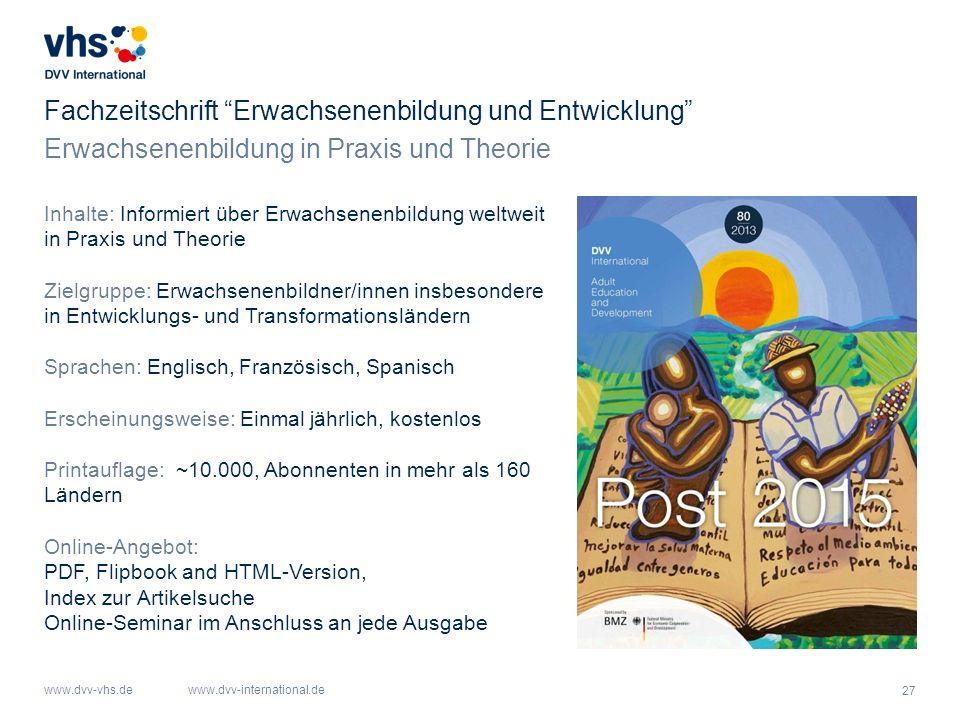 Fachzeitschrift Erwachsenenbildung und Entwicklung