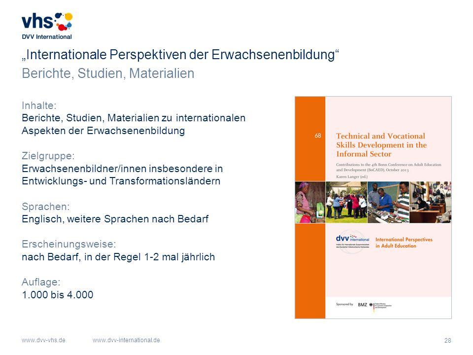 """""""Internationale Perspektiven der Erwachsenenbildung"""