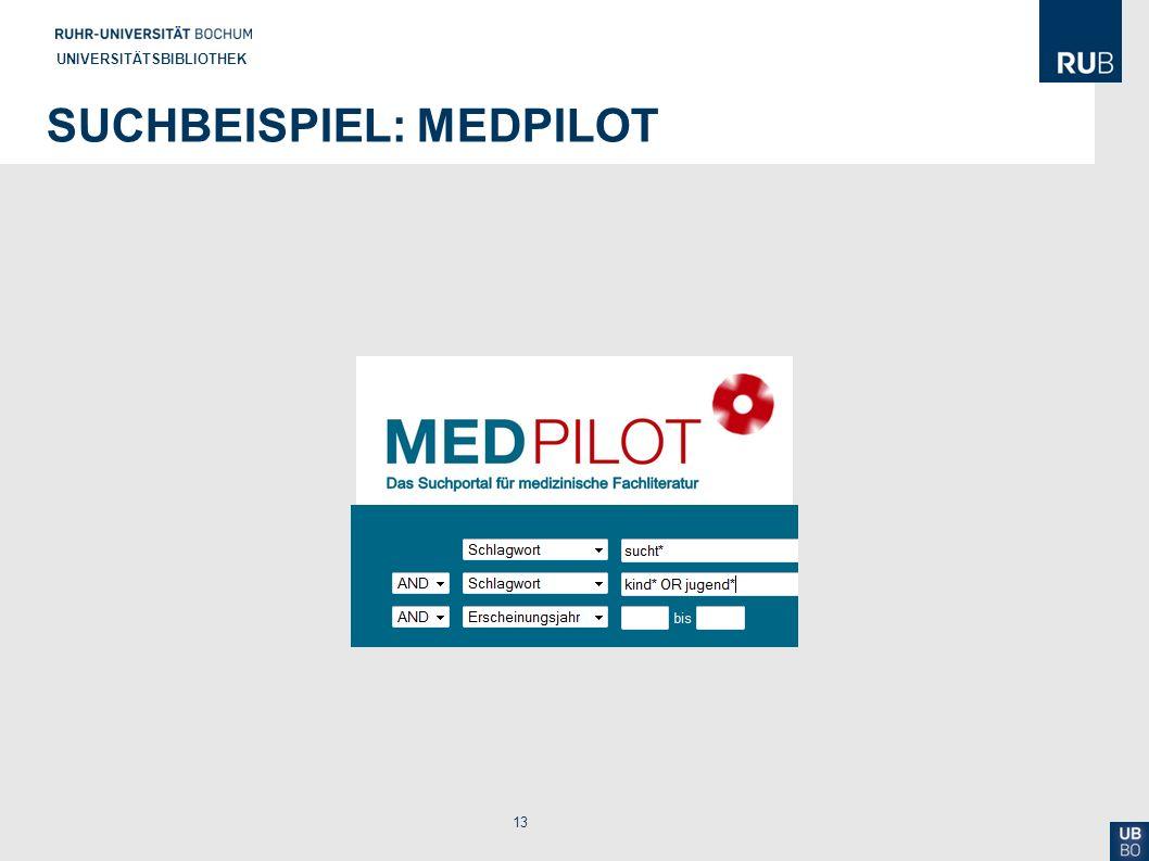 Suchbeispiel: MedPilot