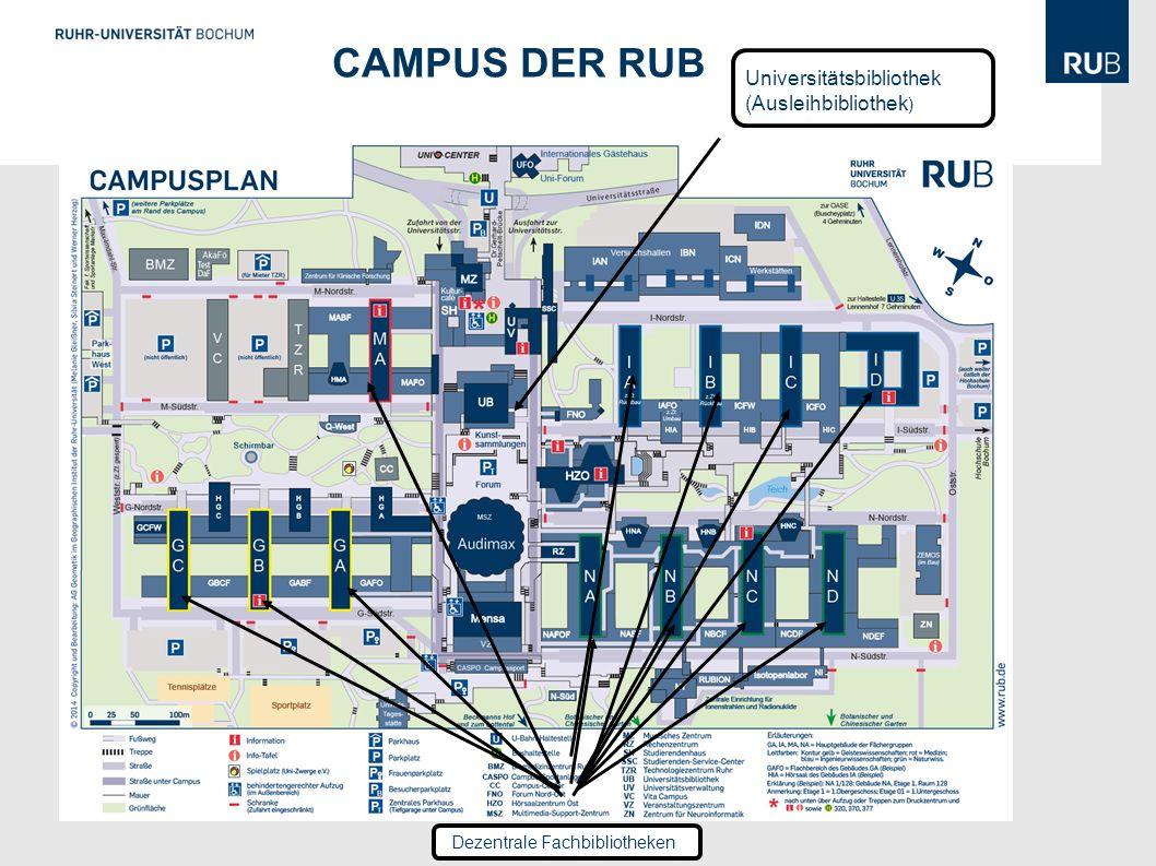 Campus der RUB Universitätsbibliothek (Ausleihbibliothek)