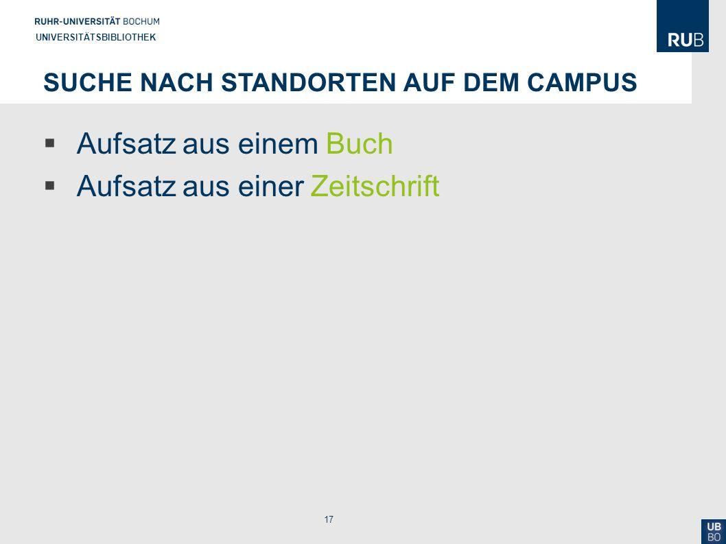 Suche nach Standorten auf dem Campus