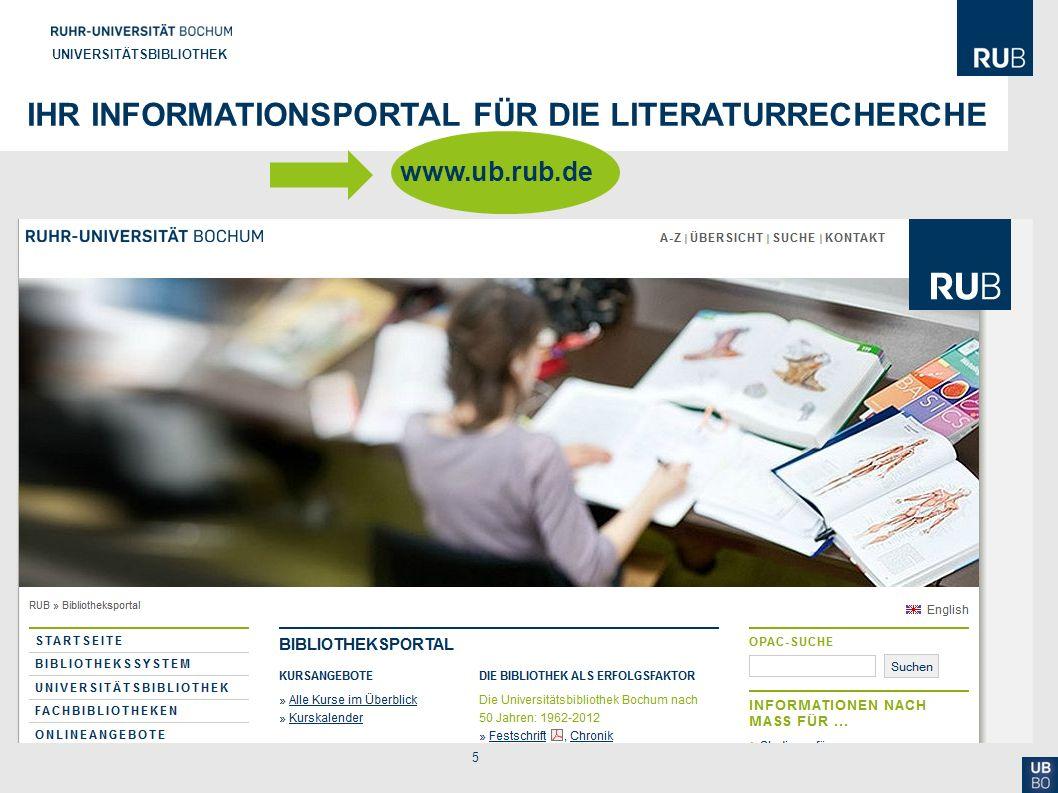 Ihr Informationsportal für die Literaturrecherche