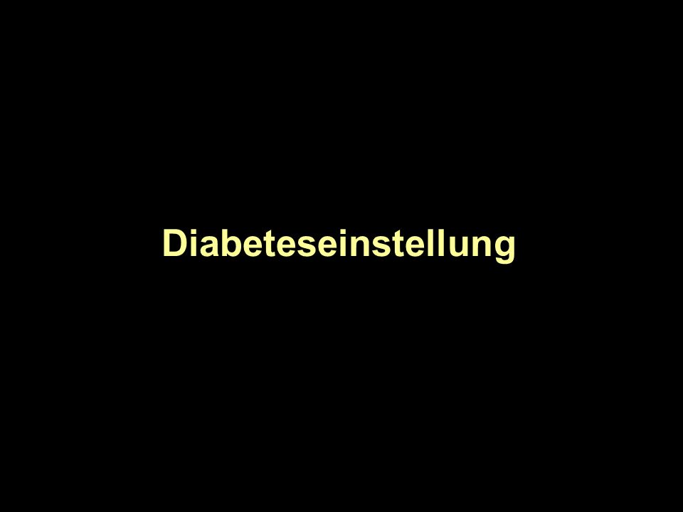 Diabeteseinstellung