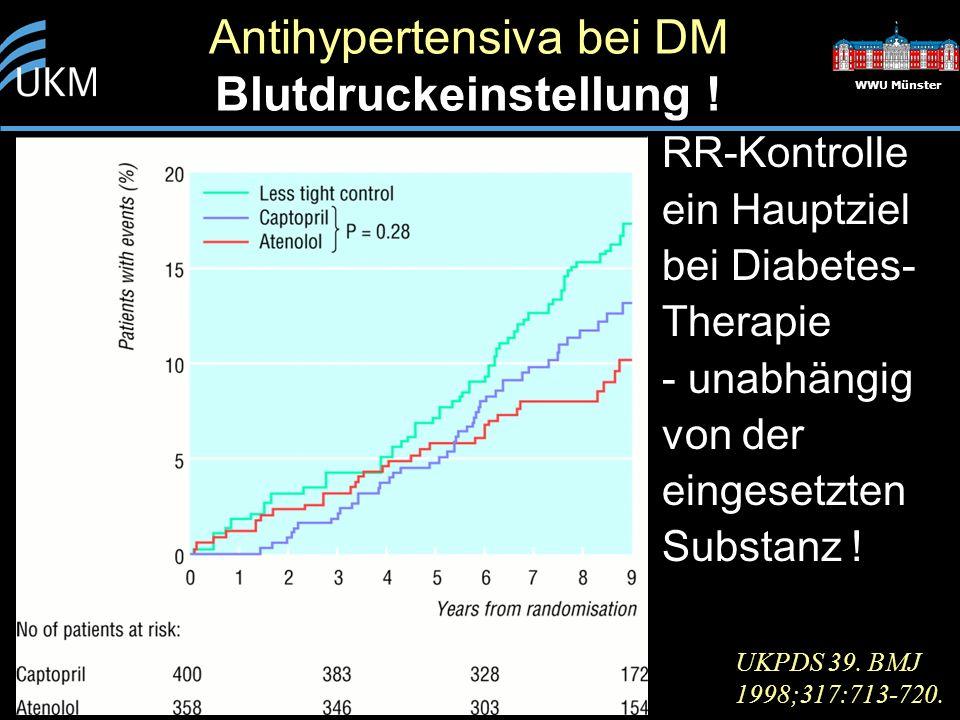 Antihypertensiva bei DM Blutdruckeinstellung !