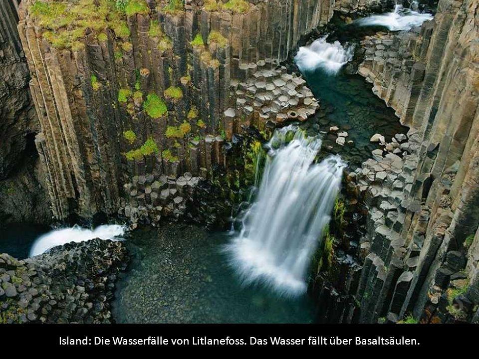 Island: Die Wasserfälle von Litlanefoss