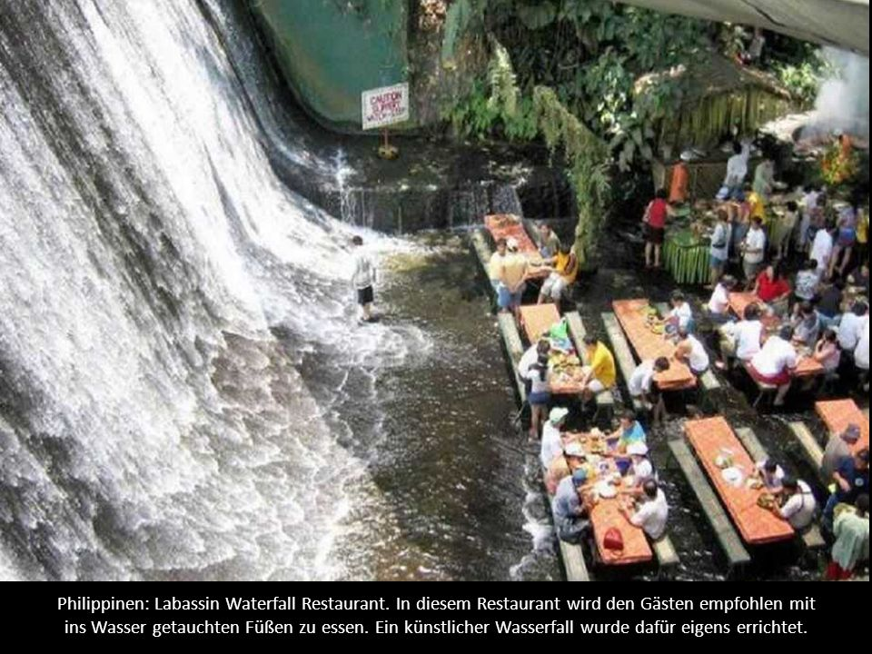 Philippinen: Labassin Waterfall Restaurant