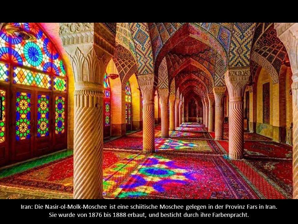 Iran: Die Nasir-ol-Molk-Moschee ist eine schiitische Moschee gelegen in der Provinz Fars in Iran.