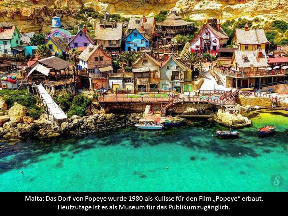 """Malta: Das Dorf von Popeye wurde 1980 als Kulisse für den Film """"Popeye erbaut."""