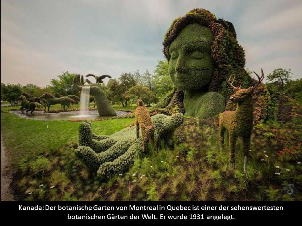 Kanada: Der botanische Garten von Montreal in Quebec ist einer der sehenswertesten botanischen Gärten der Welt.