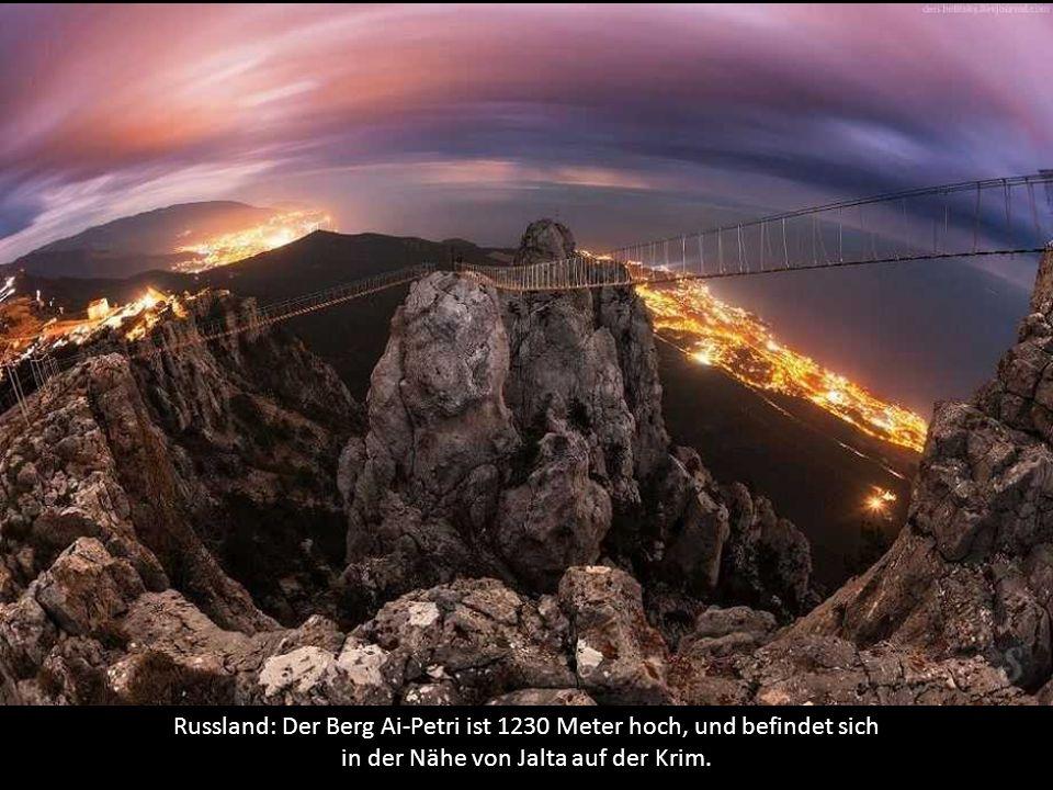 Russland: Der Berg Ai-Petri ist 1230 Meter hoch, und befindet sich in der Nähe von Jalta auf der Krim.