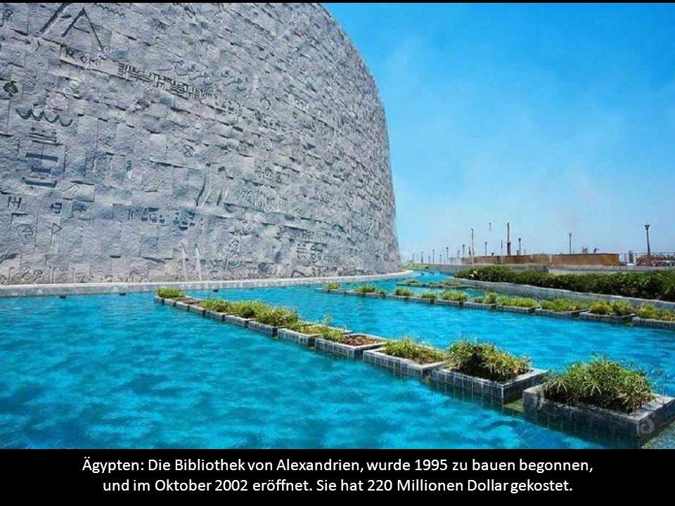 Ägypten: Die Bibliothek von Alexandrien, wurde 1995 zu bauen begonnen, und im Oktober 2002 eröffnet.
