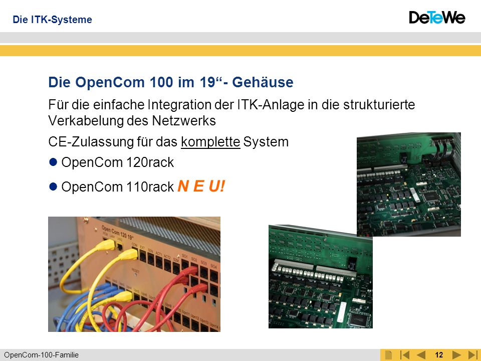 Die OpenCom 100 im 19 - Gehäuse