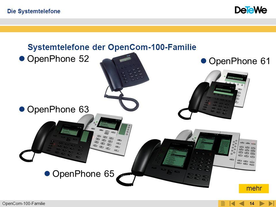 Systemtelefone der OpenCom-100-Familie