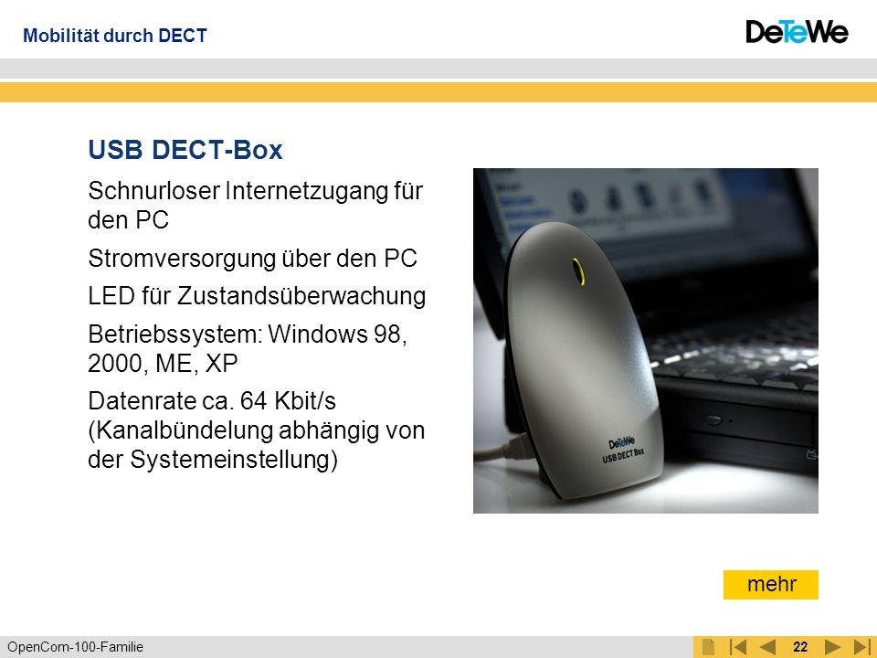 USB DECT-Box Schnurloser Internetzugang für den PC