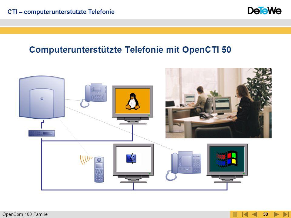 Computerunterstützte Telefonie mit OpenCTI 50