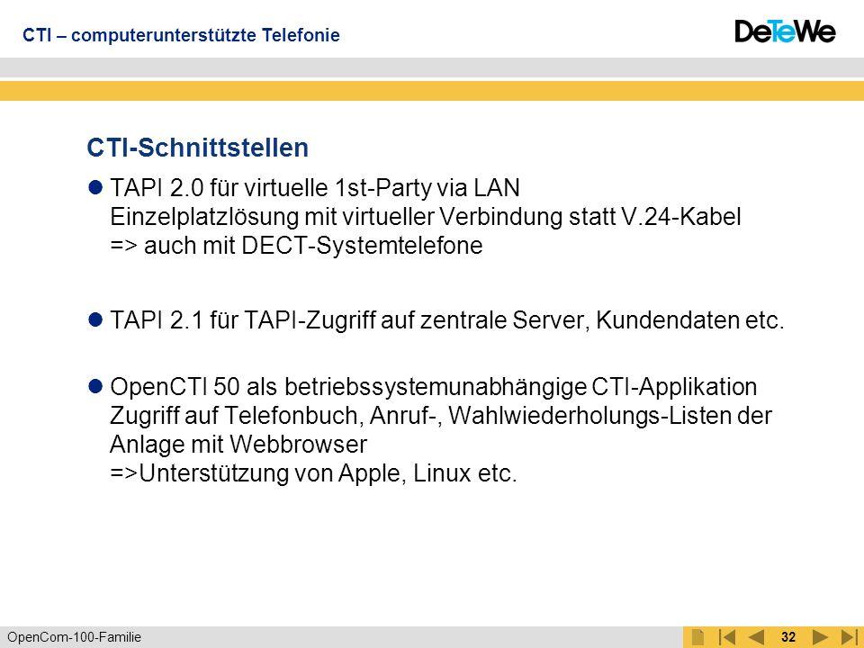 CTI – computerunterstützte Telefonie
