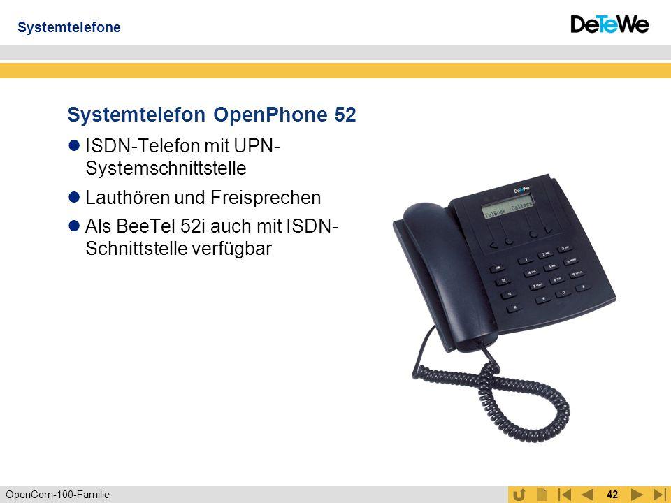 Systemtelefon OpenPhone 52