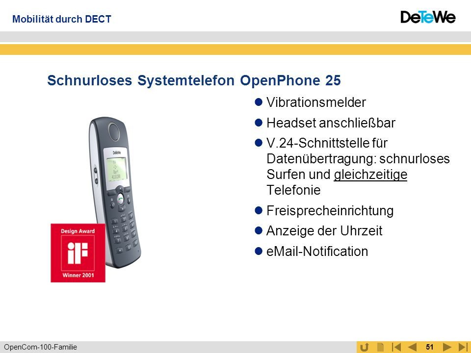 Schnurloses Systemtelefon OpenPhone 25