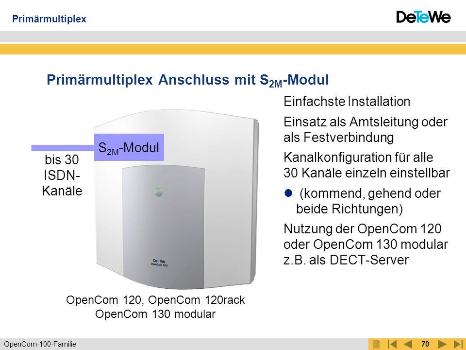 Primärmultiplex Anschluss mit S2M-Modul