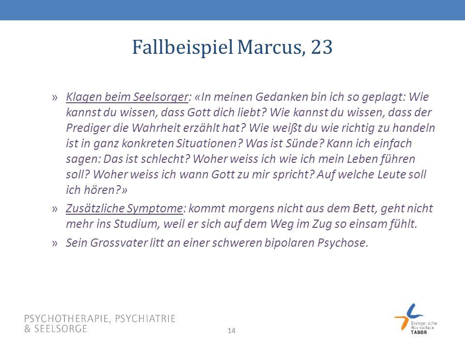 Fallbeispiel Marcus, 23