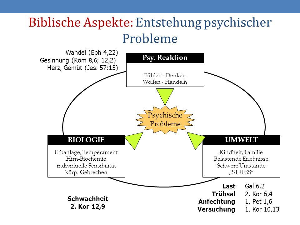 Biblische Aspekte: Entstehung psychischer Probleme