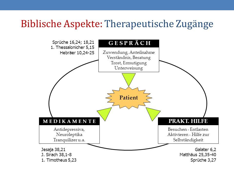 Biblische Aspekte: Therapeutische Zugänge