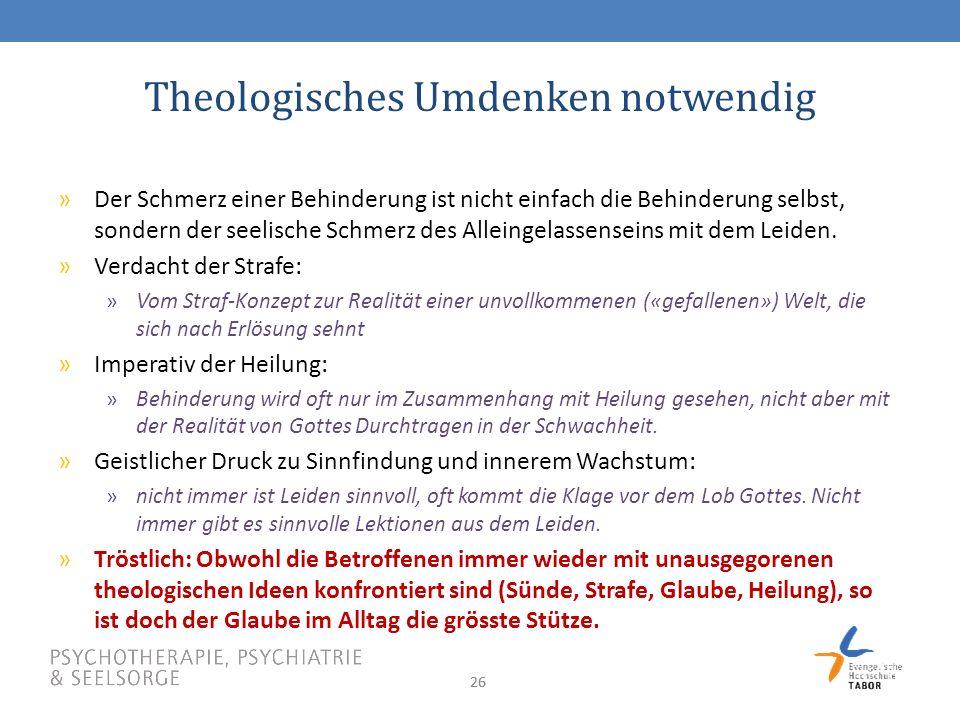 Theologisches Umdenken notwendig