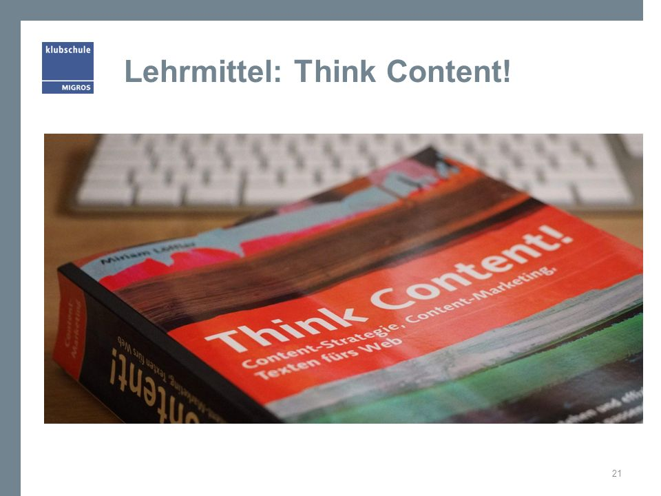 Lehrmittel: Think Content!