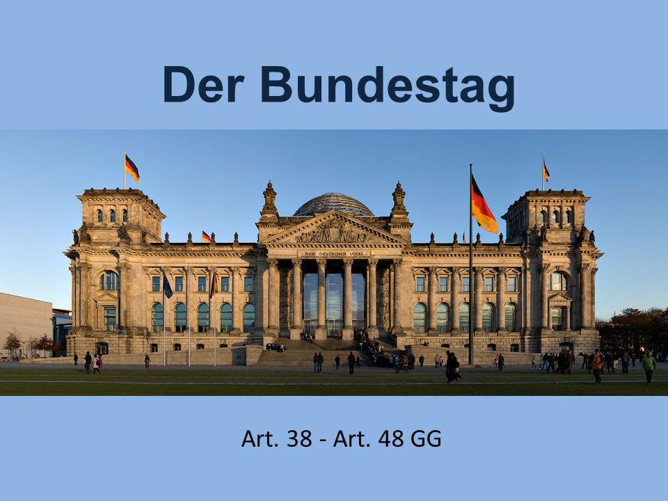 Der Bundestag Art. 38 - Art. 48 GG