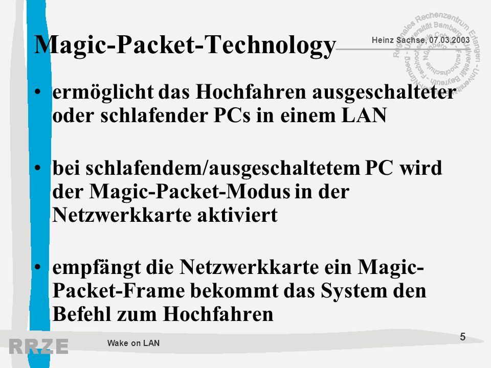 Magic-Packet-Technology