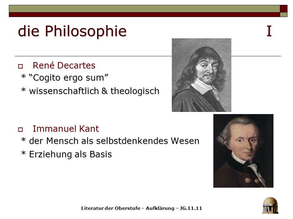 Literatur der Oberstufe – Aufklärung – JG.11.11