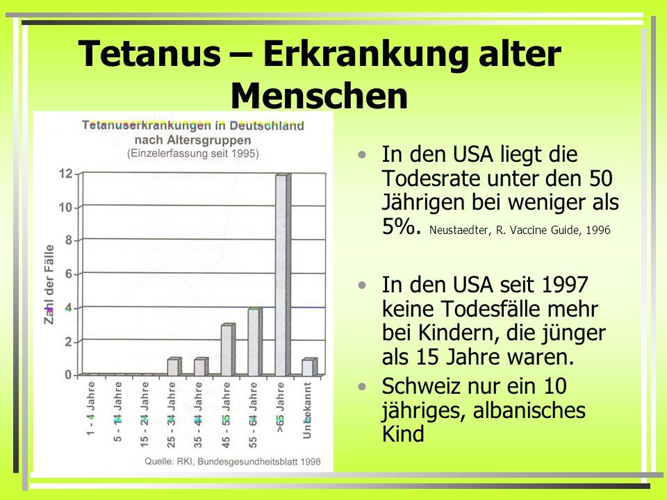 Tetanus – Erkrankung alter Menschen
