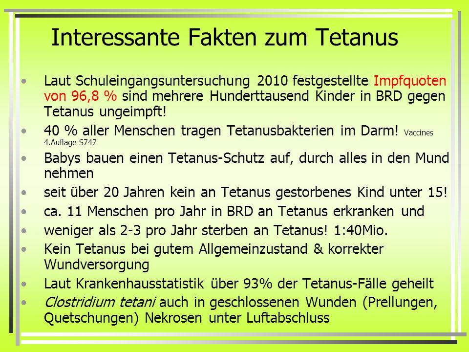 Interessante Fakten zum Tetanus