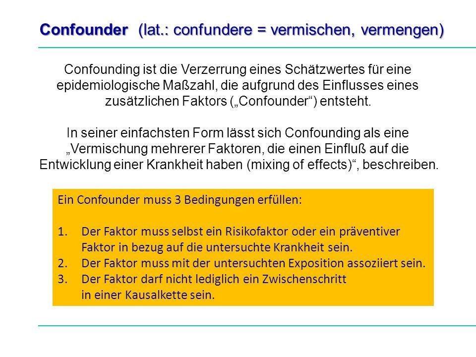 Confounder (lat.: confundere = vermischen, vermengen)