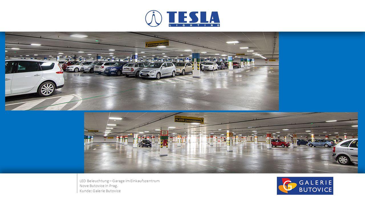 LED Beleuchtung – Garage im Einkaufszentrum Nove Butovice in Prag