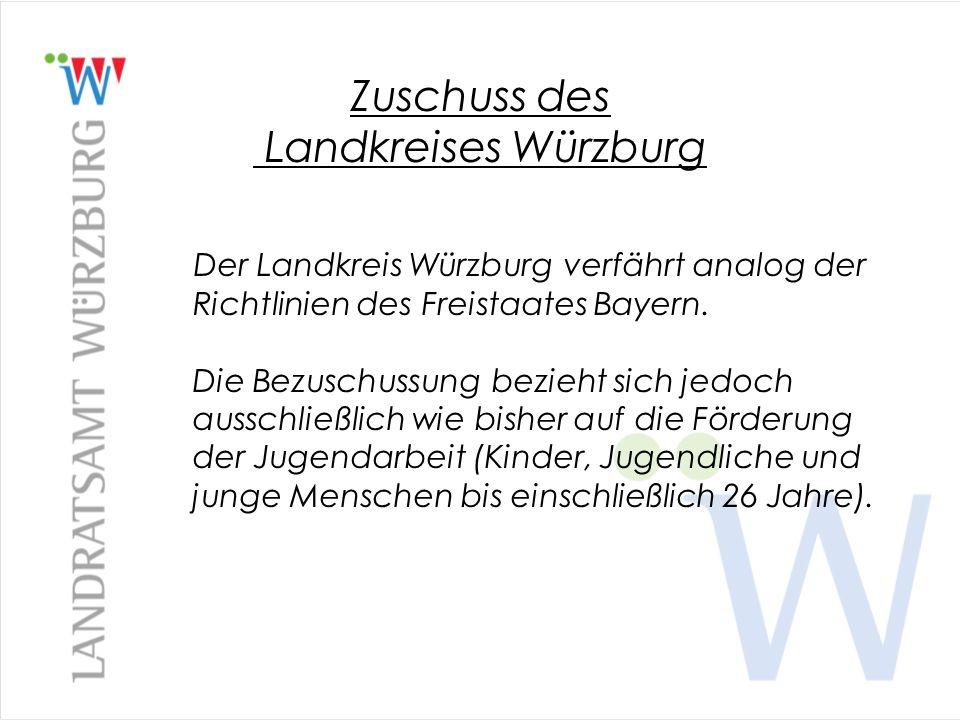 Zuschuss des Landkreises Würzburg