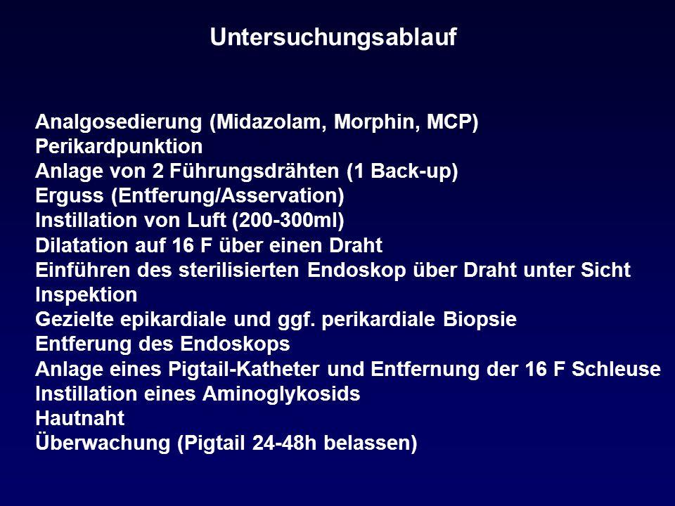 Untersuchungsablauf Analgosedierung (Midazolam, Morphin, MCP)
