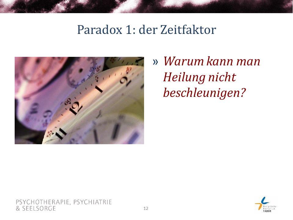 Paradox 1: der Zeitfaktor