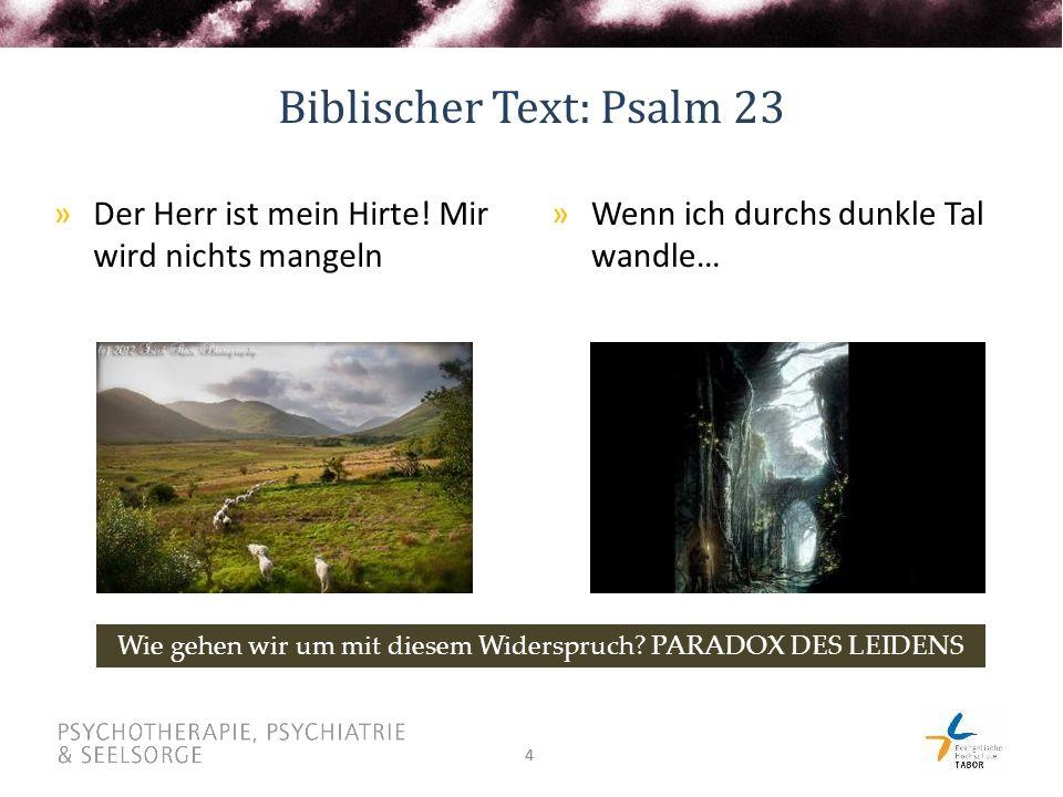 Biblischer Text: Psalm 23